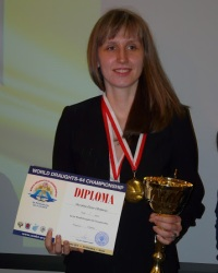 Русские шашки, чемпионка мира 2015 - Елена Сковитина