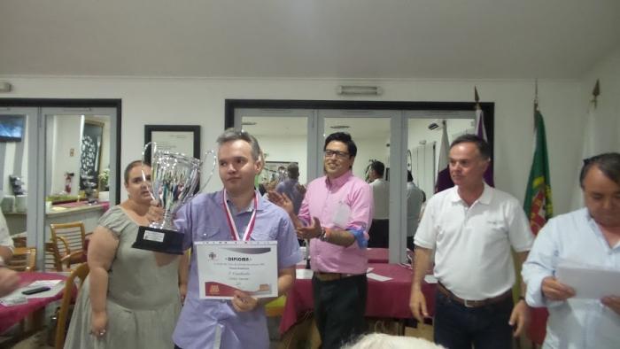 Победитель международного турнира Португалия-2016 Дмитрий Цинман