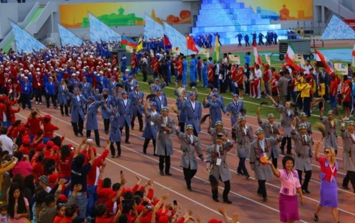 VI Международные спортивные игры «Дети Азии» церемония открытия