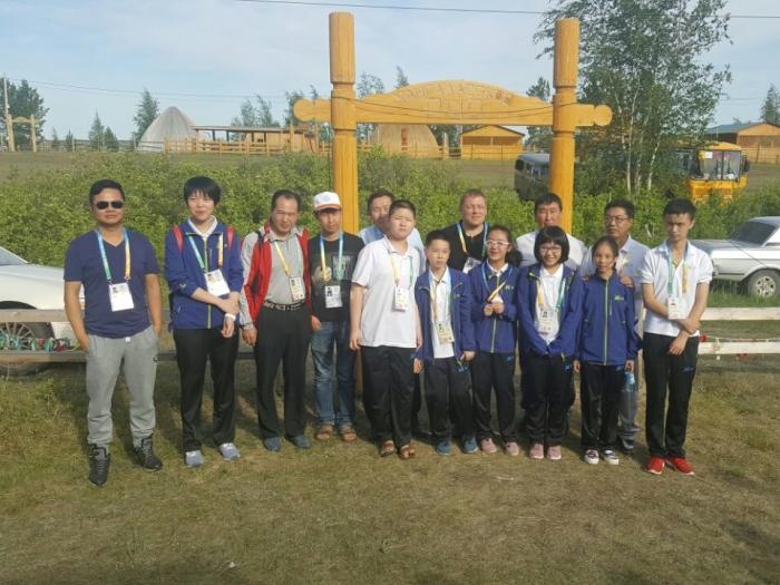 VI Международные спортивные игры «Дети Азии» команда Китая по шашкам
