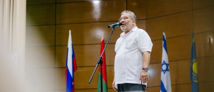 Владимир Лангин на церемонии открытия Международного турнира по шашкам Коломна-2016