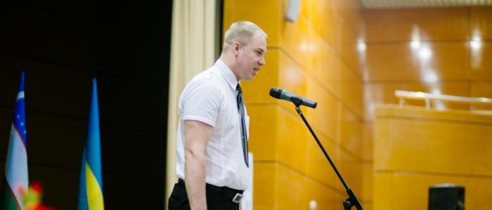 Алексей Шонин на церемонии открытия Международного турнира по шашкам Коломна-2016