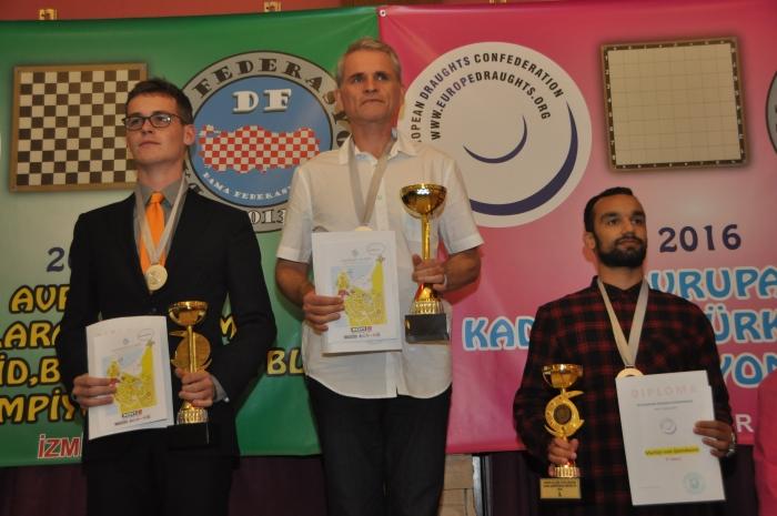 Чемпионат Европы по стоклеточным шашкам 2016 - призёры среди мужчин
