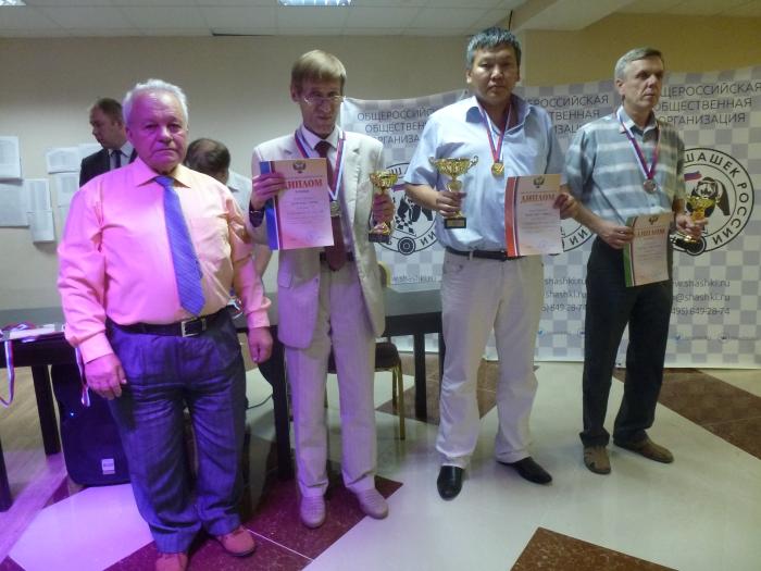 Победители Чемпионата России по русским шашкам 2016 среди мужчин
