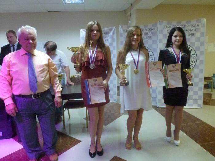Победители Чемпионата России по русским шашкам 2016 среди женщин