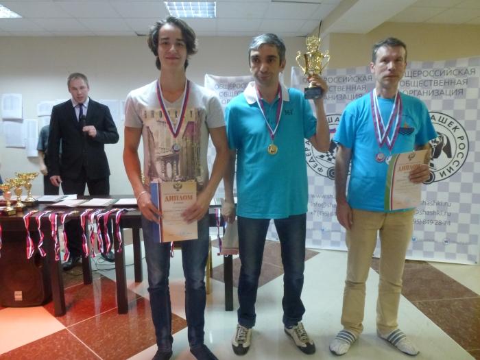 Победители Кубка России по стоклеточным шашкам 2016 среди мужчин