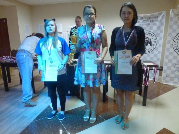 Победители Кубка России по стоклеточным шашкам 2016 среди женщин