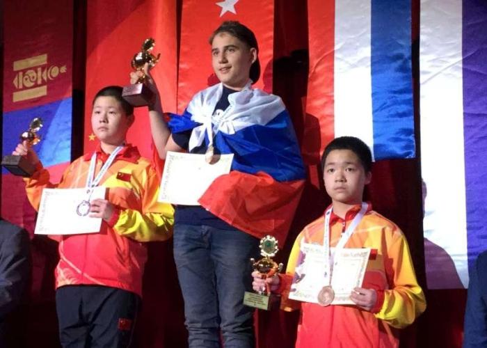 Молодёжный чемпионат мира по стоклеточным шашкам 2016 - Даниил Ильин (первое место)
