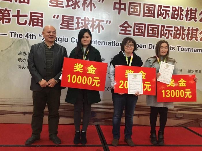 Международный турнир Lishui Open 2016 - призёры в женском зачёте