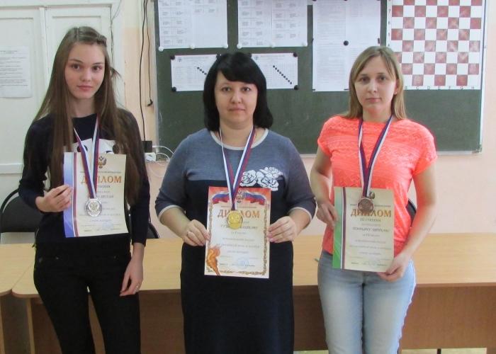 Чемпионат России по обратной игре в шашки 2017 - призёры