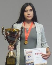 Русские шашки, чемпионка мира 2017 - Жанна Саршаева