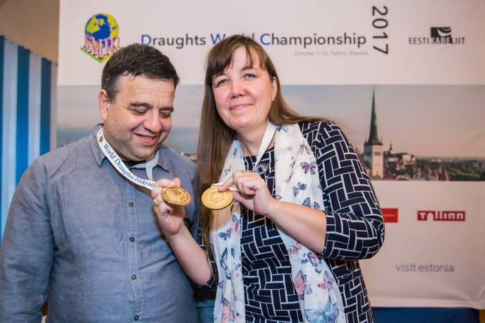 Чемпионат мира по стоклеточным шашкам 2017 - Александр Шварцман и Зоя Голубева