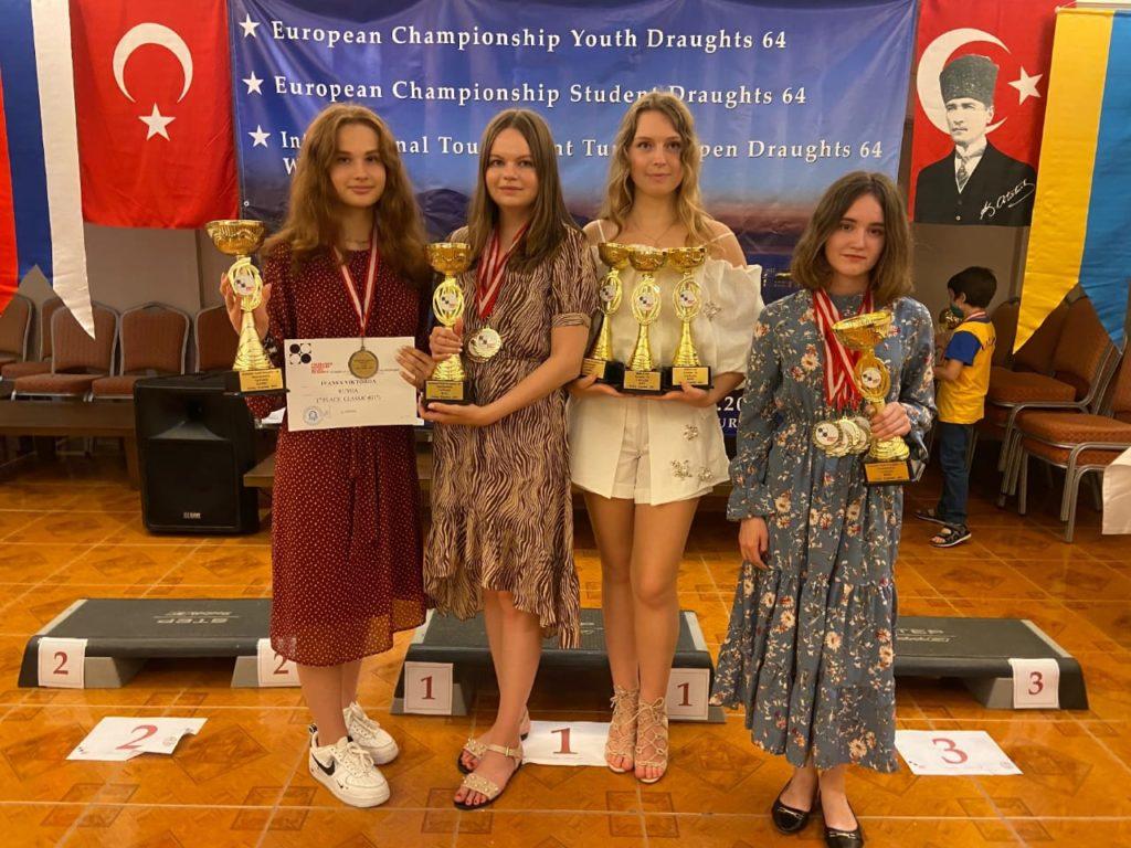 Первенство Европы среди юношей и девушек по шашкам-64