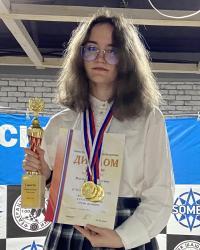 Русские шашки, чемпионка России 2021 - Кристина Ватолина